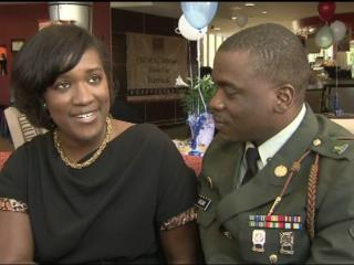 Shontae and Christopher Hogan both make sacrifices so that he can serve in the Army.