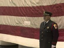 Vets add stitch to 9/11 flag