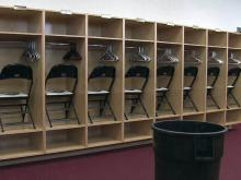 Locker room at Five County Stadium