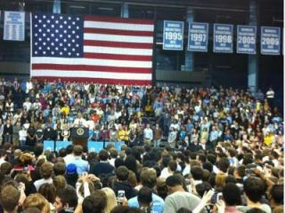 President Barack Obama speaks at the University of North Carolina at Chapel Hill Tuesday, April 24, 2012.