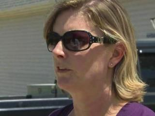 Heidi Thompson, 44, of West End, faces misdemeanor criminal charges for removing signs against a proposed constitutional amendment on marriage in North Carolina.