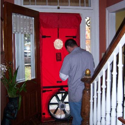 """A blower door test can identify leaks in a home's """"envelope"""" that allow airborne allergens inside."""