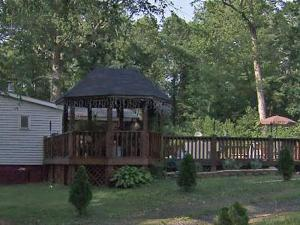 The deck off the back of a Lee County home, where a 1-year-old girl nearly drowned in a hot tub.