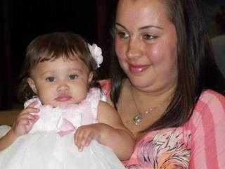 Crystal Bell with her daughter, Miracle
