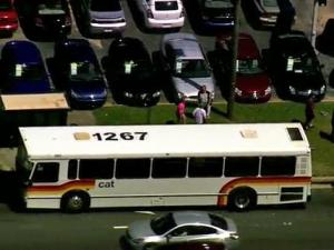 A vehicle rear-ended a Capital Area Transit bus Wednesday morning, June 27, 2012, on Capital Boulevard near Westinghouse Boulevard, according to Raleigh police.
