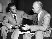 Billy Grahm with Eisenhower
