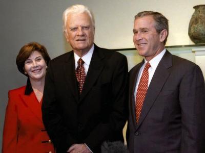 Billy Graham with George W. Bush