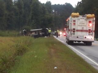 Emergency crews respond to a head-on collision in Harnett County that injured a state trooper and another driver.