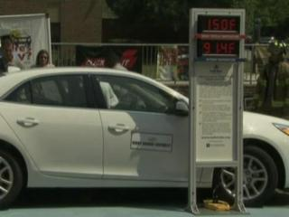 A car used for the rescue demonstration recorded a temperature of 150 degrees, while the outside temperature was only 91.