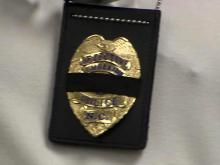 Lumberton police badge with black band