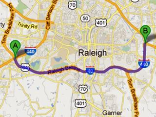 The state Department of Transportation is gearing up to repair an 11.5-mile stretch of highway in Raleigh in 2013, a project that will take about three years to complete and cost an estimated $168 million.