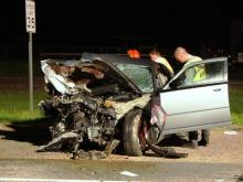 Alcohol played a role in a head-on crash in Vance County Friday night that killed an 18-month-old girl, state troopers said. (Photo by John W. Franks)