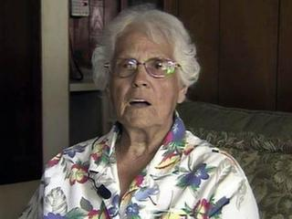 Margaret Simmons survived more than 30 hours sitting atop her Jeep Cherokee after accidentally driving into a pond near Lumberton on July 18, 2012.