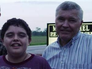 Caiden Allen and his father, Curtis Allen
