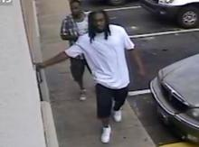Fayetteville police released this surveillance image showing men who are suspected of shooting two people on July 31, 2012.