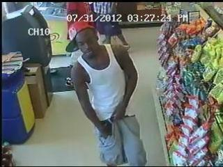 Fayetteville police released this surveillance image showing men who are suspected of shooting two people on July 31, 2012. Police said they believe the man pictured here is Stanley Armando Generette.