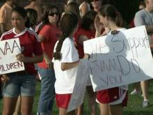 Parents protest town-sponsored sports program in Fuquay-Varina