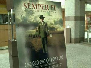 "The North Carolina Museum of History screened ""Semper Fi: Always Faithful,"" which was released last year, in its auditorium Tuesday. The film chronicles retired Marine Jerry Ensminger's quest to uncover the groundwater contamination."