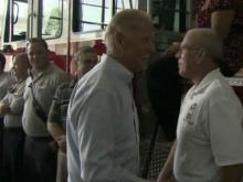 Joe Biden surprises Hillsborough firefighters