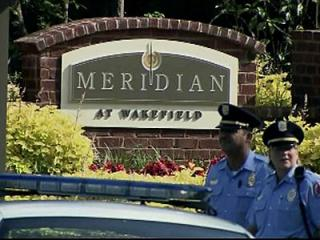Raleigh police officers respond to a shooting Thursday morning at an apartment complex in north Raleigh.