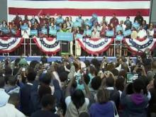 Michelle Obama urges students to rally support for president