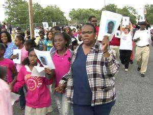 Family and friends of missing teen Kennedy Fitzgerald McLaurin Jr. marched through Goldsboro Thursday evening to draw attention to his case.