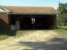 Garage where prison escapee James Ladd found