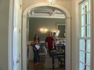 Potential buyers toured a featured home on the Parade of Homes Saturday.