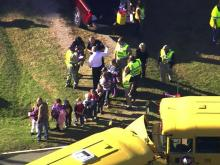 Two school bus collided at an intersection in Franklin County on Wednesday.