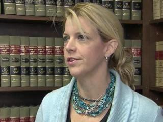 Debra Goldman talks to reporters Nov. 5, 2012.