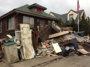 Damage along Long Beach in New York on Nov. 12, 2012.