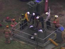 Worker's leg caught in machinery at Fuquay plant
