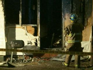 """A fire that authorities are calling """"suspicious"""" ripped through a Dunn duplex Monday evening, forcing a family of five out of their home."""