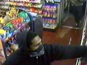 Fayetteville police were trying to identify the men who robbed the Quick Stop Tobacco Shop on Grove Street on Nov. 26, 2012. Two employees were shot during the robbery.