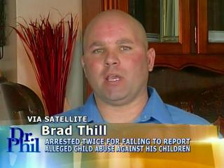 Brad Thill appears on the talk show Dr. Phil on Nov. 29, 2012, to discuss child abuse and neglect charges he faces in connection with abuse involving three of his adopted children.