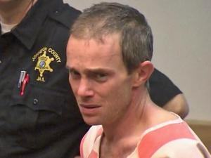 Douglas Brock appears in a Johnston County courtroom on Friday, Nov. 30, 2012, to face charges of manufacturing methamphetamine and child abuse.