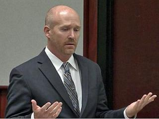 Former attorney James Crouch addresses the court prior to be sentenced Dec. 4, 2012, on charges that he backdated DWI convictions for clients.