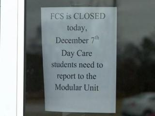 Faith Christian Academy in Rocky Mount was closed Friday due to a high number of illnesses among students and staff.