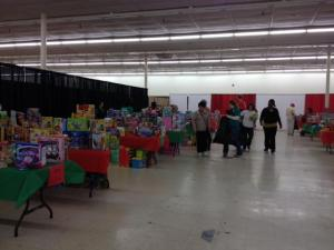 Salvation Army Christmas warehouse in Raleigh