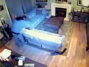 A Raleigh couple's home security system recorded the December 2012 burglary of their home.