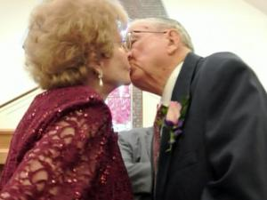 Hoyt and Emily Randall exchanged vows in a Fayetteville church on Jan. 6, 2013, almost 70 years to the day after they eloped and got married in a civil ceremony.