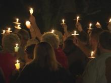 Sanford crash vigil