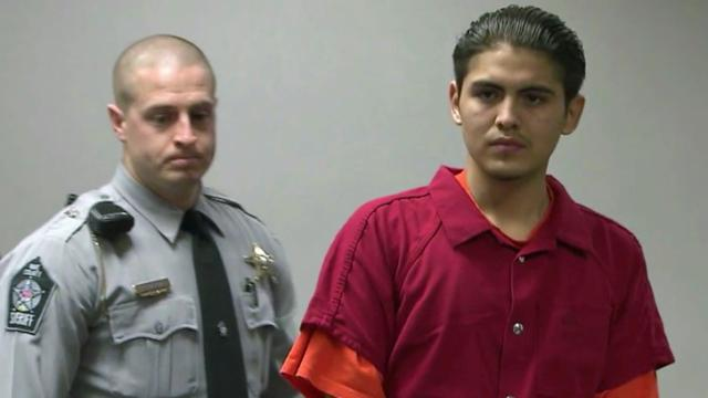 Isrrael Vasquez appears in Wake County District Court on Jan. 24, 2013, for his first court appearance in the Jan. 5 shooting deaths of Jose and Maria Mendoza, who were found shot to death in their homes.