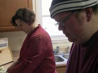 Alex Harrison said he needs the assistance of Jenny Gadd, the manager of Booth Road Group Home in Chatham County, and other home residents to survive with his mental illness.