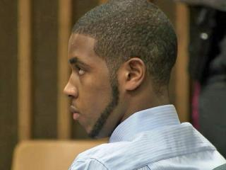 Charles Underwood sits in a Cumberland County courtroom on Feb. 13, 2013, after pleading guilty in a shooting that critically injured Catilyn Abercrombie on Oct. 24, 2011.