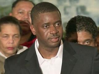 John McNeil speaks to reporters on Feb. 13, 2013, a day after he was released from a Georgia state prison, where he served more than six years for fatally shooting a man in 2005. McNeil says the shooting was in self-defense.