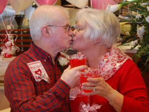 Harold Strother, 65, and Peggy Killian, 60, exchanged vows on Valentine's Day 2013 in front of family, friends and McDonald's characters, Grimace, Hamburlgar and Birdie.