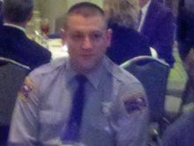 Trooper Michael Potts during a 2012 luncheon honoring him for his work with Durham's chapter of Mothers Against Drunk Driving. (Photo courtesy of Ollie Jeffers)