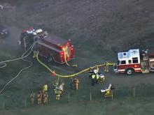 Sky5: Crews battle fire at east Raleigh home