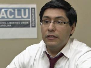 Raul Pinto, staff attorney for American Civil Liberties Union of North Carolina